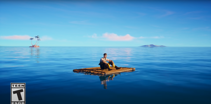 Fortnite Chapter 2 Season 3 trailer featuring Midas in the water