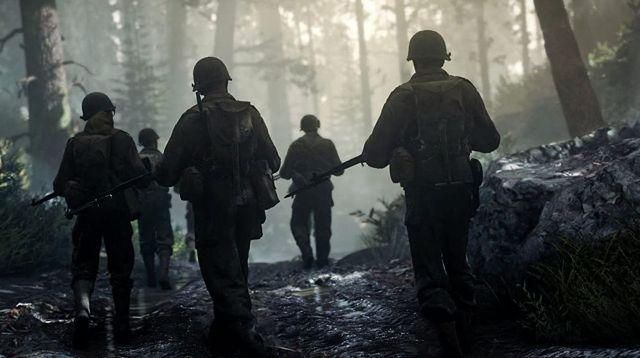 World War 2 Soldiers Walking Through Forest