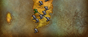 The alliance flightpath from Stormwind to the Blasted Lands.