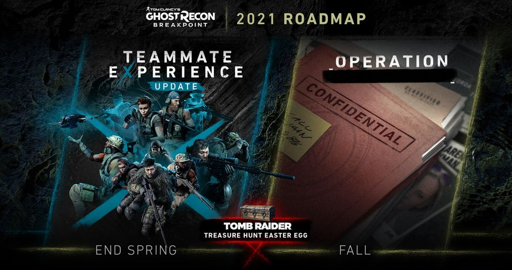 Ghost Recon: Breakpoint 2021 Roadmap Revealed, Will Include Tomb Raider Crossover