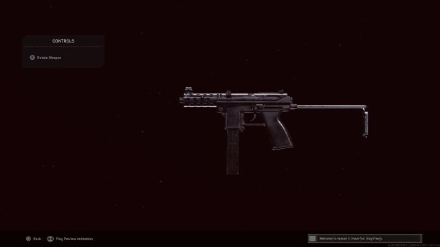 TEC-9 SMG on a black background