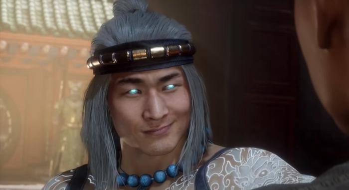 Mortal Kombat 11 Lord Liu Kang smirking at Kung Lao