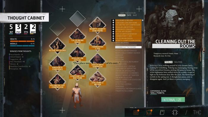 Disco Elysium thought cabinet guide