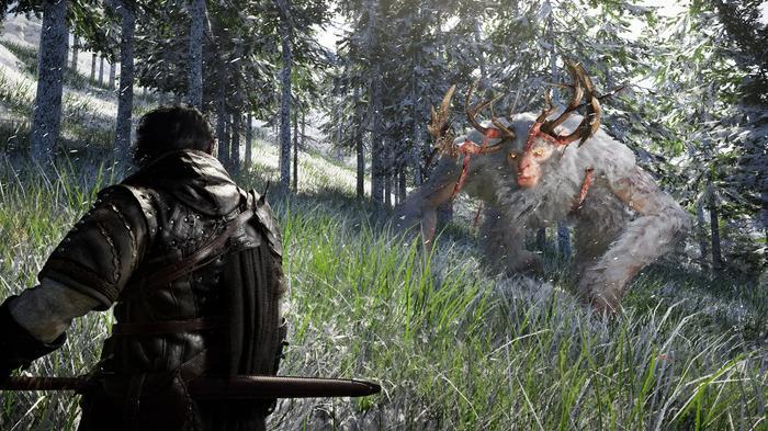 A screenshot from Crimson Desert showing a monster