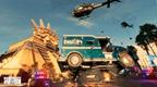 Saints Row 2022 4K Screenshot of a casino chopper heist stealing a truck