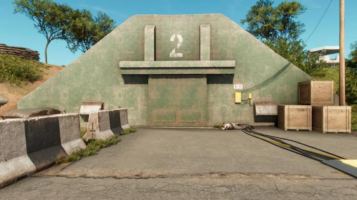 The bunker during Far Cry 6's 'Cache Money' Treasure Hunt that contains two easter eggs.