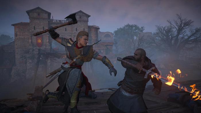 Eivor fights Ebels in Assassins Creed Valhalla Siege of Paris