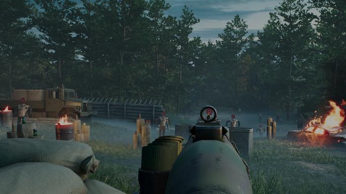 Back 4 Blood firing range at Fort Hope