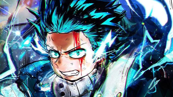 IZUKU MIDORIYA artwork by Twitter user TripleTrickster for the Anime Quest Roblox game.