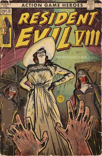 Image showing resident evil village as a comic cover