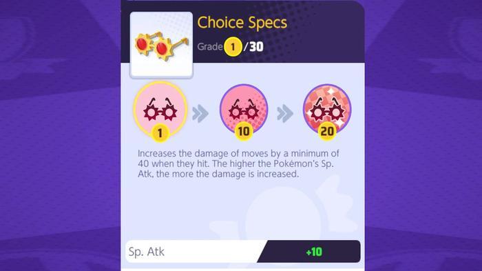 The Pokémon Unite Choice Specs are a new held item.