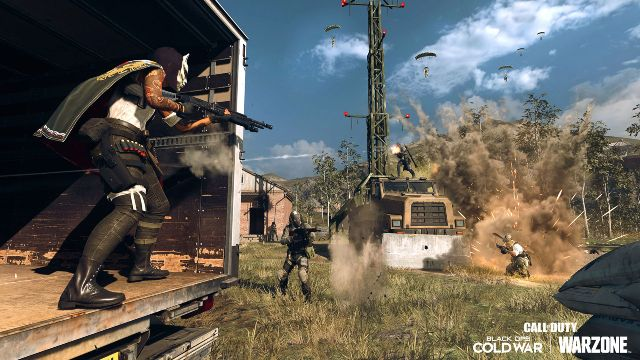 Kyubi Operator Shooting At Enemy From Back Of Truck