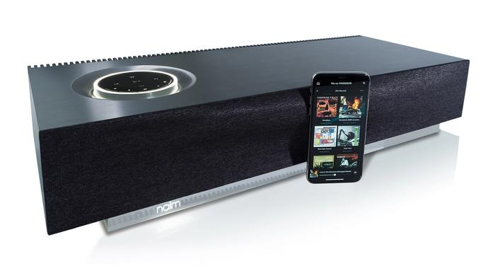 best wireless speaker, product image of a black and silver speaker