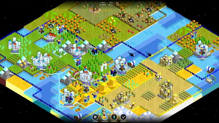 A map from The Battle of Polytopia