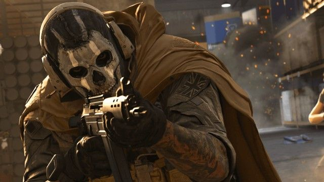 Ghost Warzone Operator Aiming Down Sights of Assault Rifle