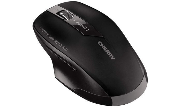 best wireless mouse, product image of a black and grey wireless office mouse