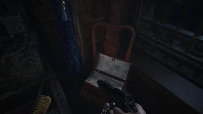 The location of the Flower Swords Item in Resident Evil Village