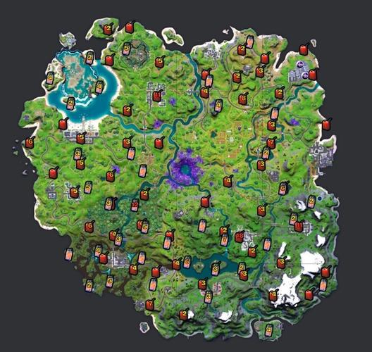 Gas can and firefly jar locations in Fortnite Season 7.