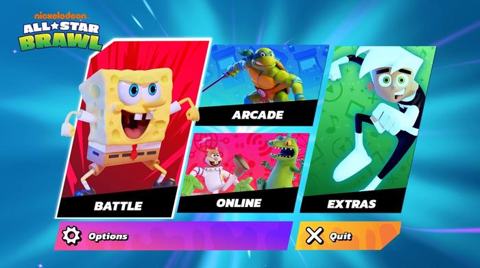 Nickelodeon All-Star Brawl Main Menu