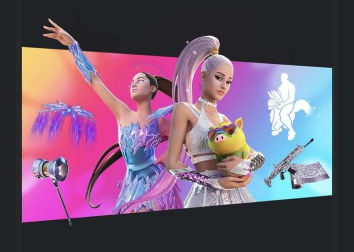 Ariana Grande gets her own Fortnite skin too. The skin is scheduled to go live on August 4th.
