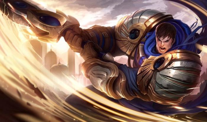 Garen from League of Legends.