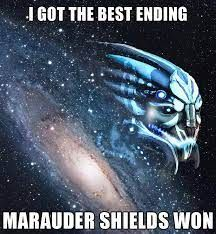 Marauder shields against a galaxy backdrop. Beautiful