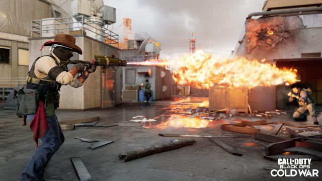 Black Ops Cold War Operator Using Flamethrower Killstreak