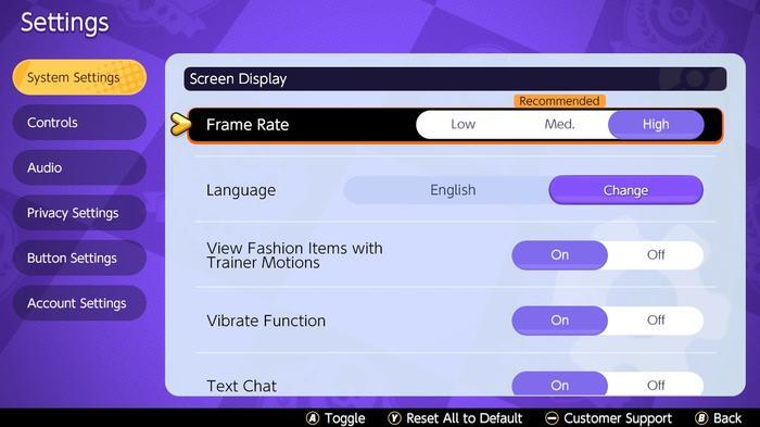 How to toggle the Pokémon Unite 60fps mode.