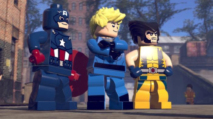 Captain America The Human Torch and Wolverine