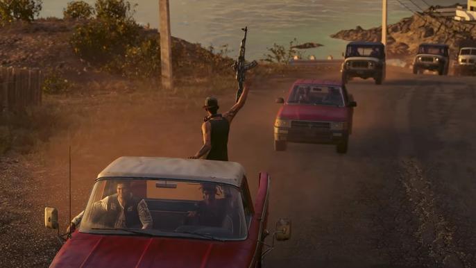 Far Cry 6's Maximas Matanzas helping to free Yara.