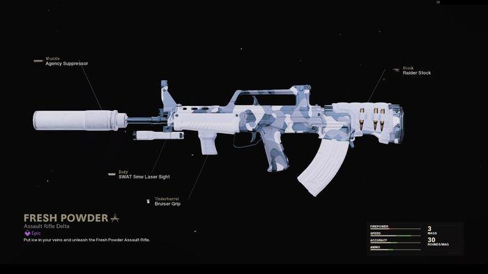 Fresh Powder Blueprint Warzone