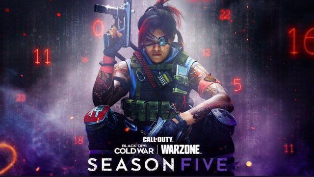 Warzone Season 5 Key Art TEC-9 Pistol