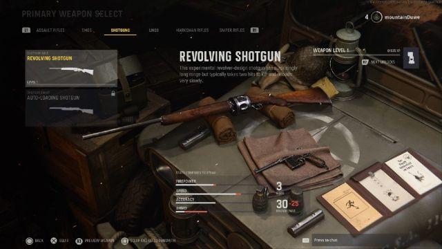 COD VanguardRevolving Shotgun Placed On Table