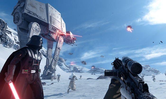 Battlefront 2 screenshot of Hoth.