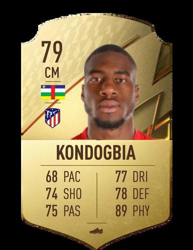 Geoffrey Kondogbia FIFA 22 Stats FUT Ultimate Team