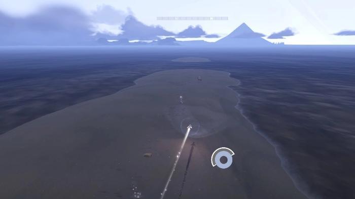 Jett flying across a sandbank with multiple Vapor Spots