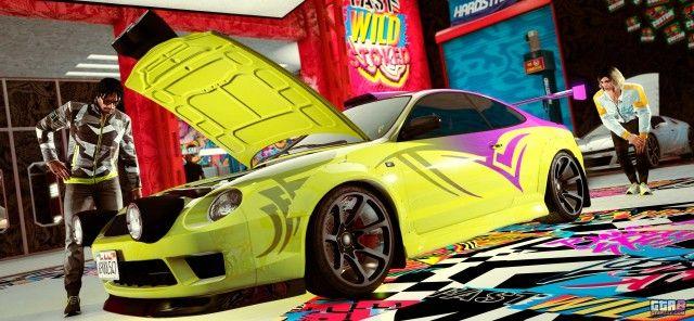 A new GTA Online Los Santos Car (yellow) In the Auto Shop