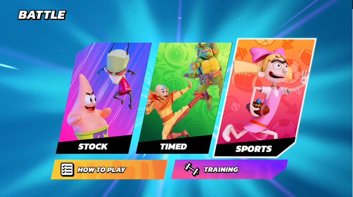 Nickelodeon All-Star Brawl Sports Ball Mode