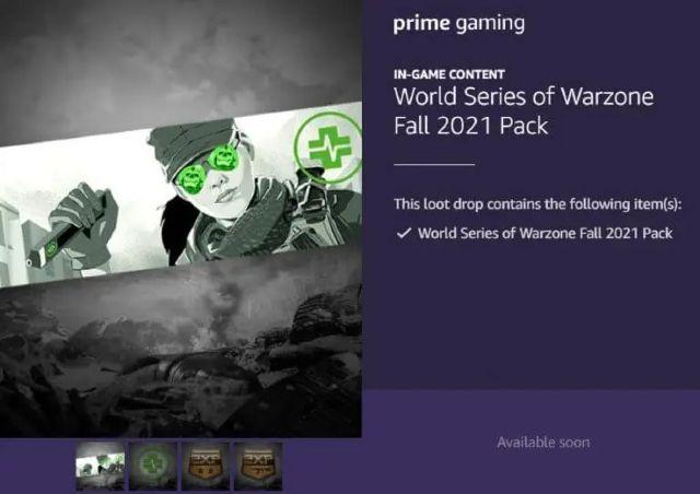 World Series of Warzone Fall 2021 Bundle Prime Gaming