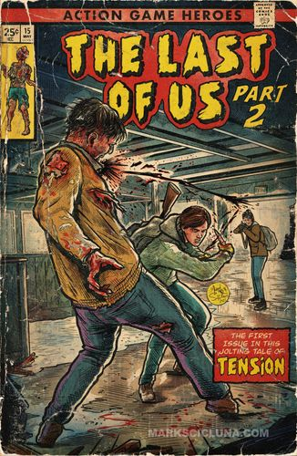 Image showing the last of us 2 as a comic