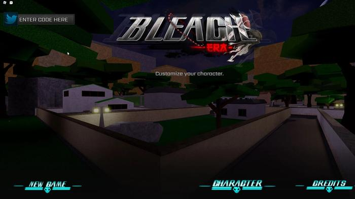 The main menu for redeeming Bleach Era codes.
