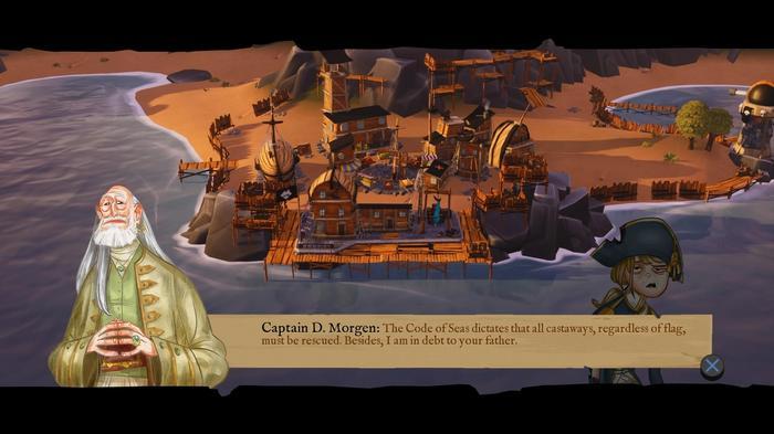 Characters talking in King of Seas