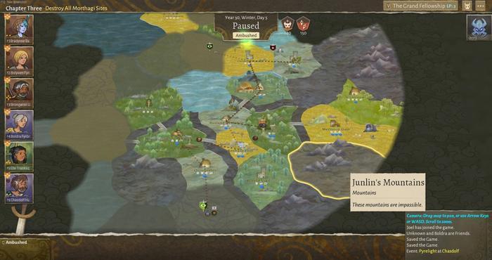 Wildermyth review map