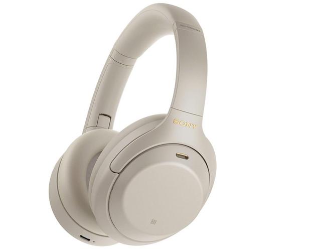 best wireless headphones, image of beige headphones