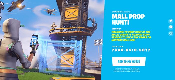 Fortnite Mall Prop Hunt (Image via Epic Games)