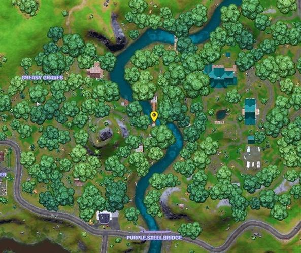 Beast Boy spawns at this yellow blip in Fortnite.