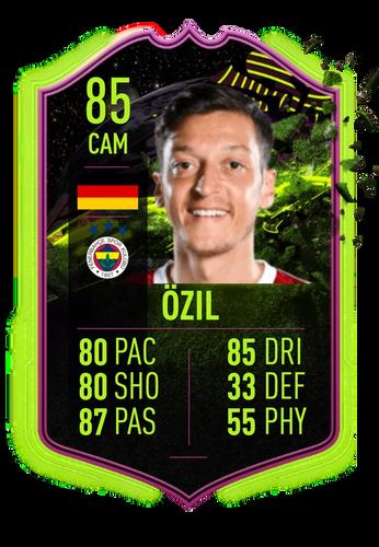 ozil fifa 22 ultimate scream rulebreakers prediction card stats