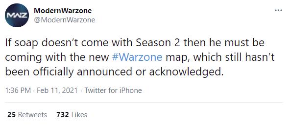 Soap MacTavish Warzone Operator