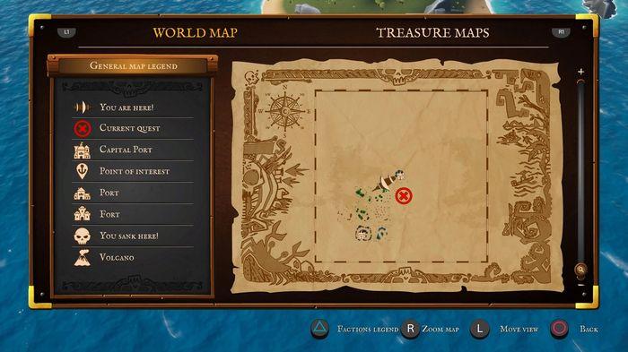 King of Seas screenshot. The map.