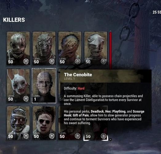 The Cenobite Killer from Dead by Daylight